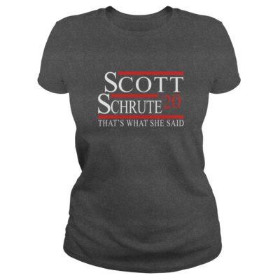 Scott Schrute 2020 Thats What She Said ladies tee 400x400 - Scott Schrute 2020 That's What She Said shirt, long sleeve