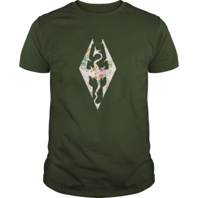 Skyrim Imperial Logo Rose guys tee 400x400 - Skyrim Imperial Logo Rose shirt, ladies tee, guys tee