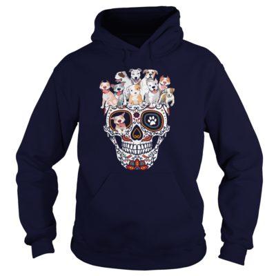Sugar Skull Pit Bull Dogs hoodie 400x400 - Sugar Skull Pit Bull Dogs shirt, ladies tee, long sleeve