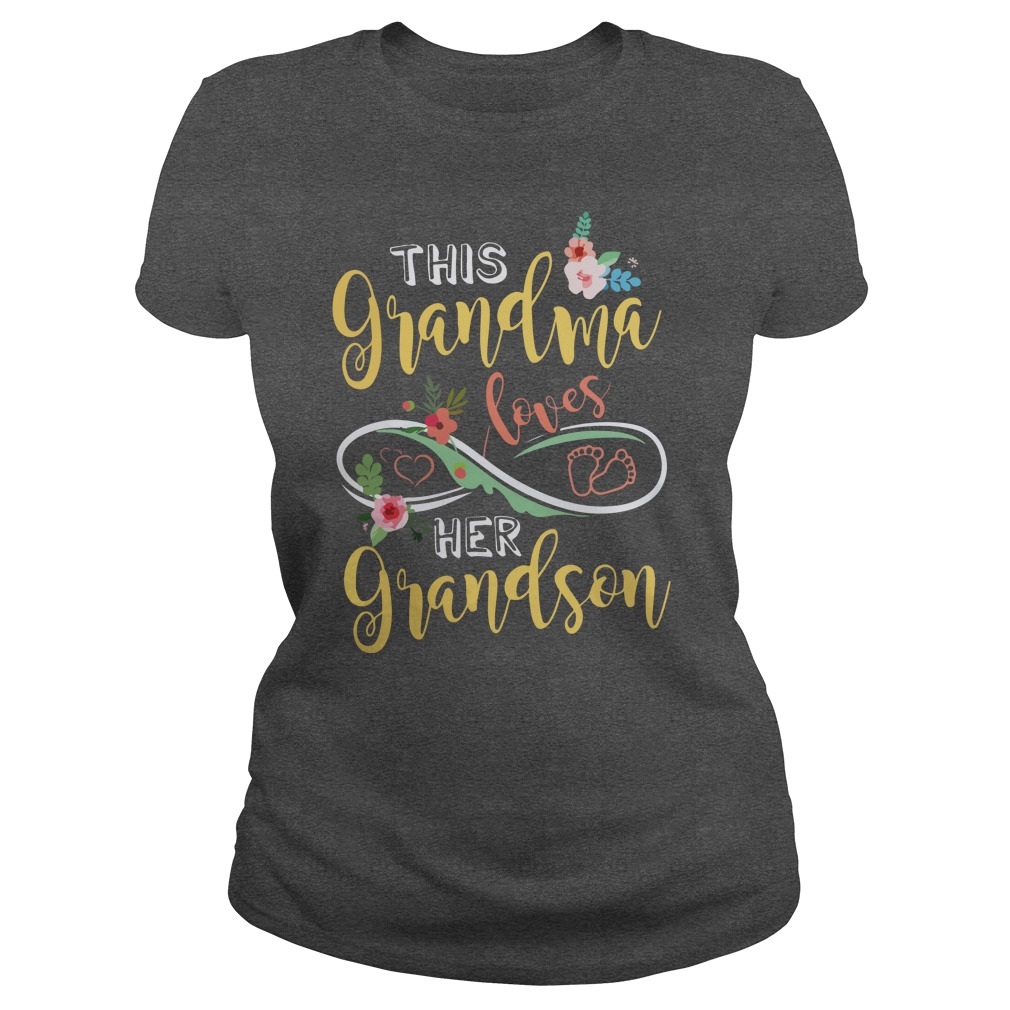 This Grandma Loves Her Grandson shirt - This Grandma Loves Her Grandson shirt, youth tee, ladies tee