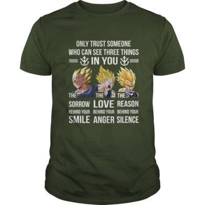 Vegeta Only trust someone who can see three things in you shirt1 400x400 - Vegeta: Only trust someone who can see three things in you shirt