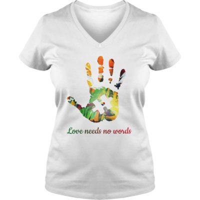 Autism love needs no words ladies v neck 400x400 - Autism Love Needs No Words shirt, ladies tee, youth tee