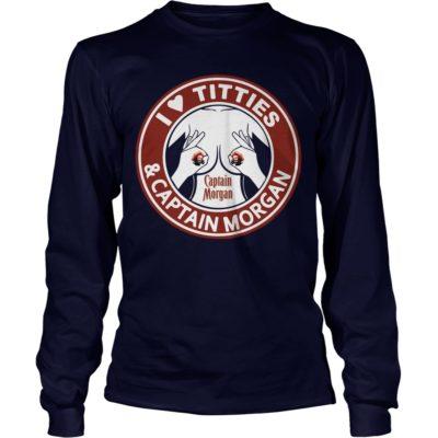 I Love Titties And Captain Morgan shirt2 400x400 - I Love Titties and Captain Morgan Shirt, Hoodie