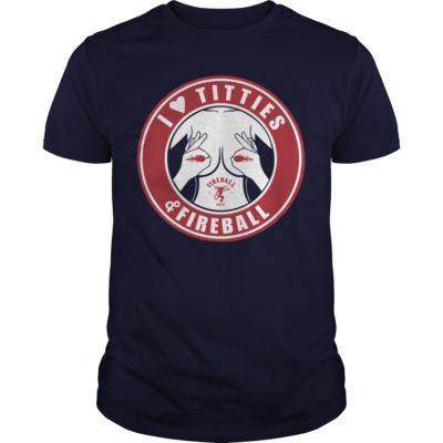 I Love Titties and Fireball Whiskey t shirt 400x400 - I Love Titties and Fireball Whiskey t-shirt, hoodie, long sleeve