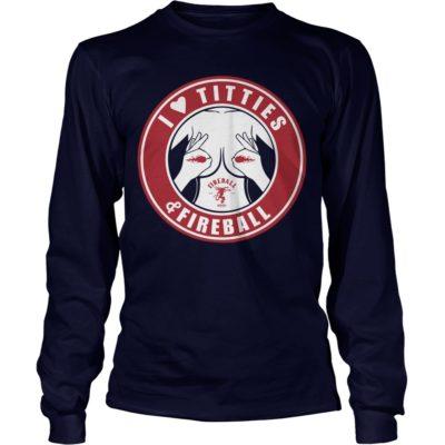 I Love Titties and Fireball Whiskey t shirt2 400x400 - I Love Titties and Fireball Whiskey t-shirt, hoodie, long sleeve