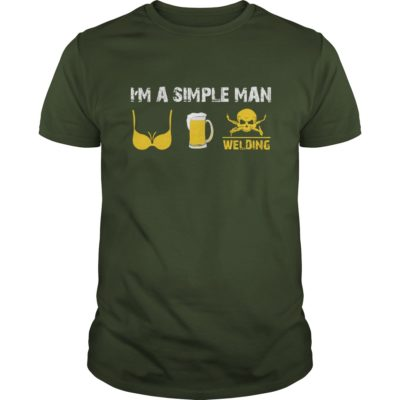 Im a simple man I love tits beer and welding T shirt 400x400 - I'm a Simple Man I Love Tits Beer and Welding shirt, guys tee, long sleeve