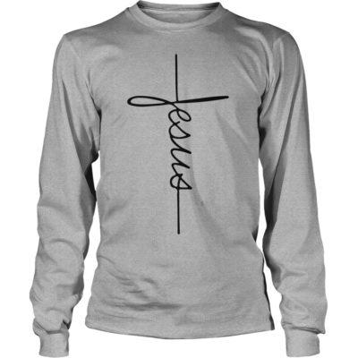 Signature Jesus long sleeve 400x400 - Signature Jesus shirt - Jesus Signature cross