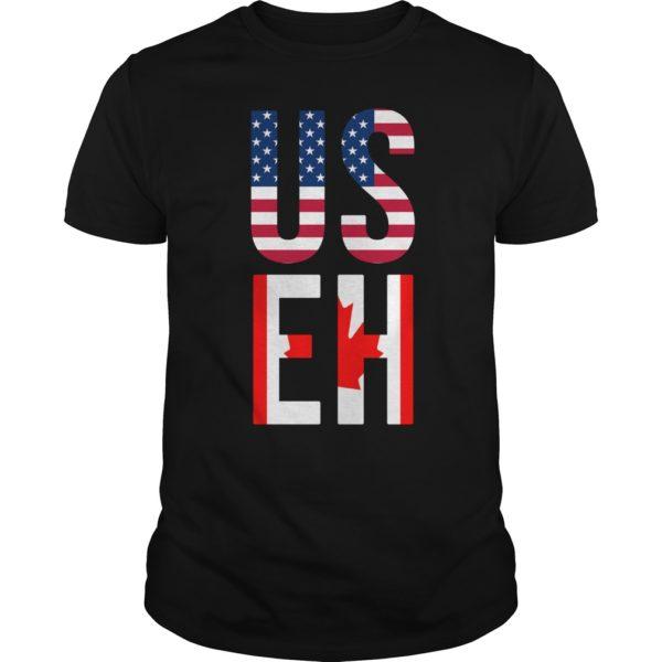 USEH America Canada Flag shirt 600x600 - USEH America Canada Flag shirt, guys tee, hoodie, ladies tee