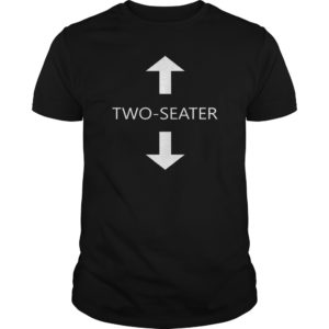 two-seater black t-shirt front