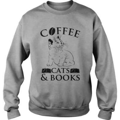 Cat Coffee Cats  400x400 - Cat Coffee Cats & Book Shirt, long sleeve