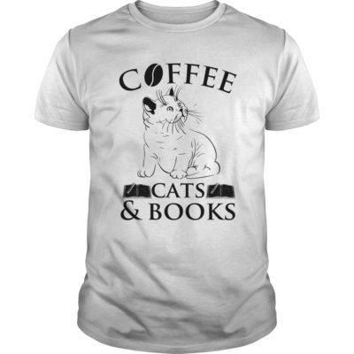 Cat Coffee Cats Book Shirt 400x400 - Cat Coffee Cats & Book Shirt, long sleeve