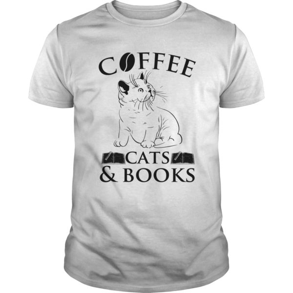Cat Coffee Cats Book Shirt 600x600 - Cat Coffee Cats & Book Shirt, long sleeve