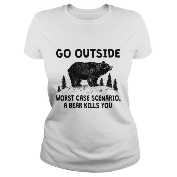 Go outside worst case Scenario a Bear kills you shirt 600x600 - Go Outside Worst Case Scenario A Bear Kills You shirt, ladies tee, youth tee