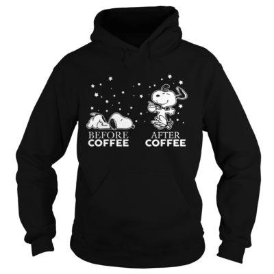 Snoopy before coffee after coffee hoodie 400x400 - Snoopy Before Coffee and After Coffee shirt, guys tee, ladies tee, hoodie