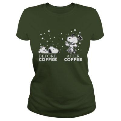 Snoopy before coffee after coffee ladies tee 400x400 - Snoopy Before Coffee and After Coffee shirt, guys tee, ladies tee, hoodie