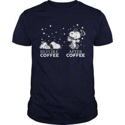 Snoopy before coffee after coffee t shirt 400x400 - Snoopy Before Coffee and After Coffee shirt, guys tee, ladies tee, hoodie