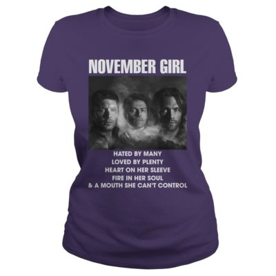 1 11 400x400 - November Girl Hated By Many Love By Plenty Heart On Her Sleeve t-shirt