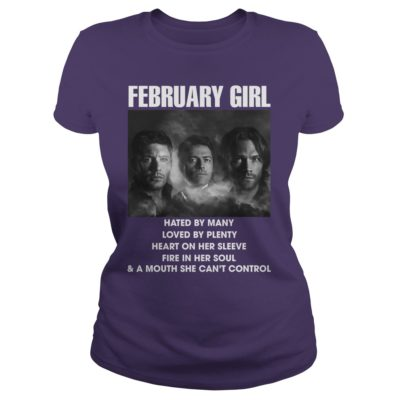 2 6 400x400 - February Girl Hated By Many Love By Plenty Heart On Her Sleeve t-shirt, ladies