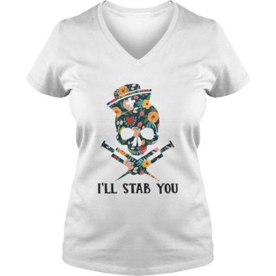 33 1 400x400 - Skull Nurse I'll Stab You shirt - Funny Skull Nurse