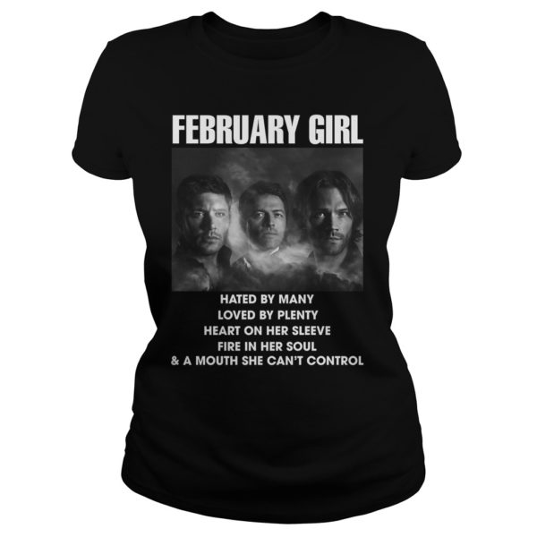 February Girl hated by many love by plenty heart on her sleeve shirt 600x600 - February Girl Hated By Many Love By Plenty Heart On Her Sleeve t-shirt, ladies