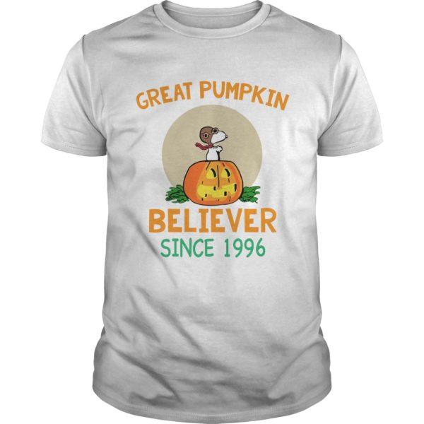 Snoopy Great Pumpkin Believer Since 1996 shirt 600x600 - Snoopy Great Pumpkin Believer Since 1996 shirt, guys tee, ladies tee
