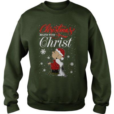 121 1 400x400 - Snoopy Christmas Begins With Christ shirt, sweatshirt, hoodie