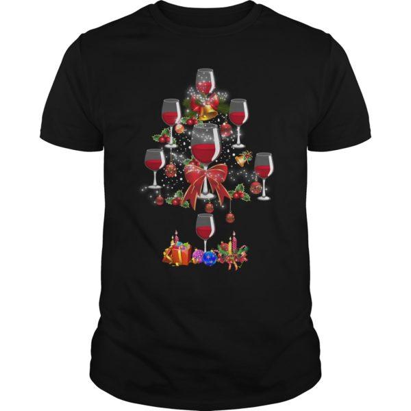 Wine Christmas tree shirt 600x600 - Wine Christmas Tree shirt, sweater, hoodie, long sleeve