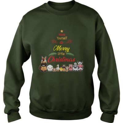 Animals Have yourself a merry little Christmas sweater 400x400 - Animals Have yourself a merry little Christmas sweatshirt, long sleeve