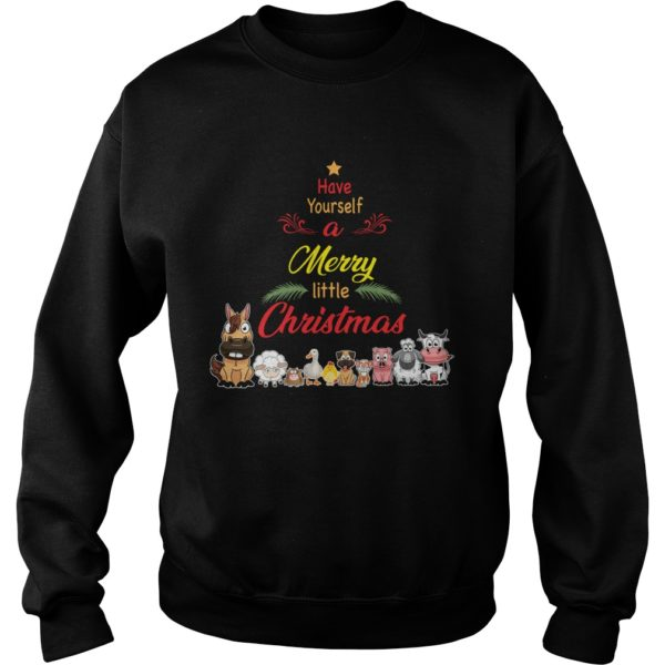 Animals Have yourself a merry little Christmas sweatshirt 600x600 - Animals Have yourself a merry little Christmas sweatshirt, long sleeve