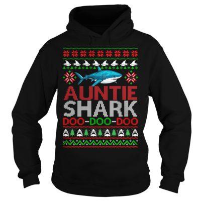 Auntie Shark doo doo doo Christmas hoodie 400x400 - Auntie Shark doo doo doo Christmas sweatshirt, ladies tee, long sleeve