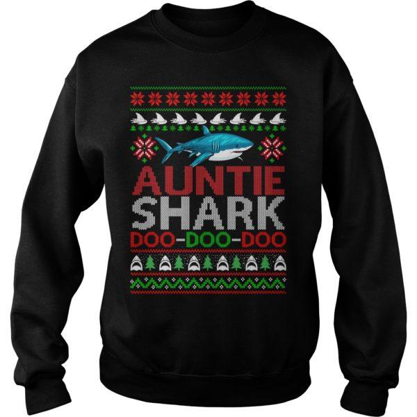 Auntie Shark doo doo doo Christmas sweatshirt 600x600 - Auntie Shark doo doo doo Christmas sweatshirt, ladies tee, long sleeve