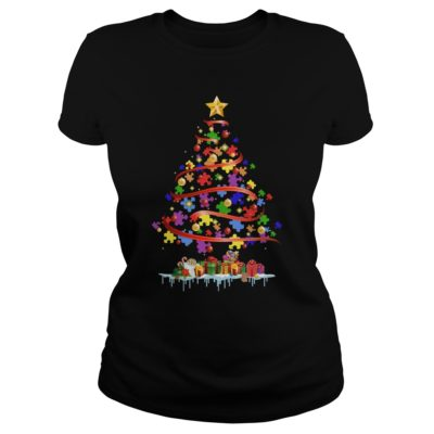 Autism Christmas tree ladies tee 400x400 - Autism Christmas tree sweater, hoodie, long sleeve, ladies tee