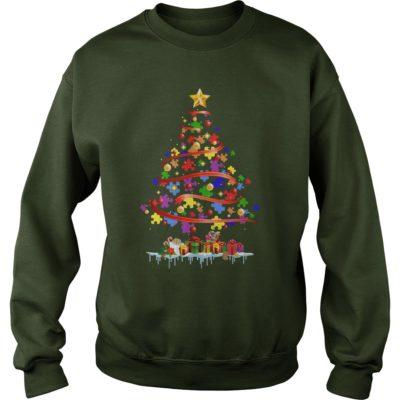 Autism Christmas tree sweatshirt 400x400 - Autism Christmas tree sweater, hoodie, long sleeve, ladies tee