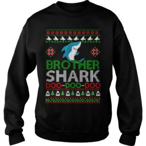 Brother Shark Doo Doo Doo Christmas sweatshirt 300x300 - Brother Shark Doo Doo Doo Christmas sweatshirt, long sleeve, guys tee