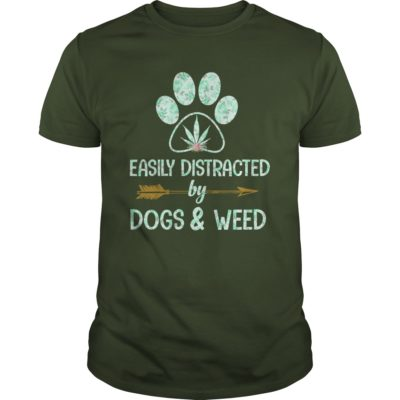 Easily Distracted by Dogs Weed guys tee 400x400 - Easily Distracted by Dogs & Weed shirt, guys tee, long sleeve