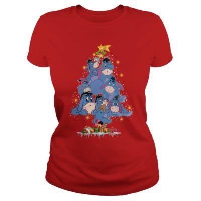 Eeyore Christmas tree ladies tee 400x400 - Eeyore Christmas tree sweatshirt, hoodie, t-shirt, long sleeve