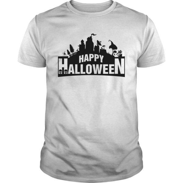 Fortnite Happy Halloween shirt 600x600 - Fortnite Happy Halloween shirt, guys tee, ladies tee, long sleeve