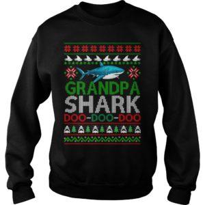 Grandpa Shark doo doo doo Christmas sweater 300x300 - Grandpa Shark doo doo doo Christmas sweater, long sleeve, guys tee