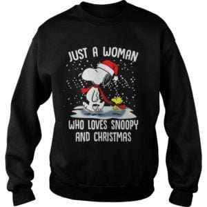 Just A Woman who loves Snoopy and Christmas sweatshirt 300x300 - Just a Woman who loves Snoopy and Christmas sweatshirt, hoodie, LS