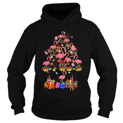 Pink Flamingo Christmas Tree hoodie 400x400 - Flamingo Christmas Tree shirt, ladies tee, sweater, hoodie, LS