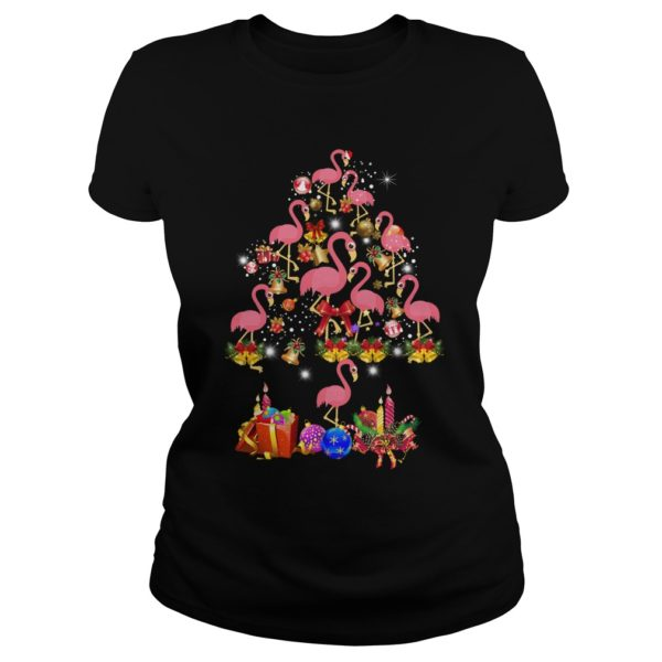 Pink Flamingo Christmas Tree shirt 600x600 - Flamingo Christmas Tree shirt, ladies tee, sweater, hoodie, LS
