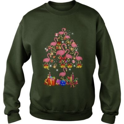 Pink Flamingo Christmas Tree sweater 400x400 - Flamingo Christmas Tree shirt, ladies tee, sweater, hoodie, LS