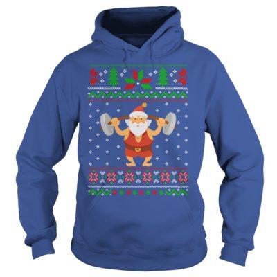 Santa fitness Christmas hoodie 400x400 - Santa fitness Christmas sweatshirt, hoodie, t-shirt, tank top