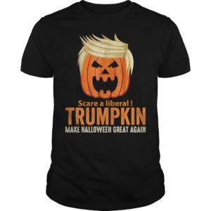 Scare a liberal Trumpkin make Halloween great again t shirt 300x300 - Scare a liberal Trumpkin make Halloween great again shirt, hoodie
