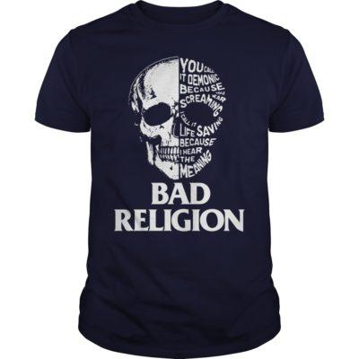Skull Bad Religion guys tee 400x400 - Skull Bad Religion shirt, guys tee, long sleeve, hoodie