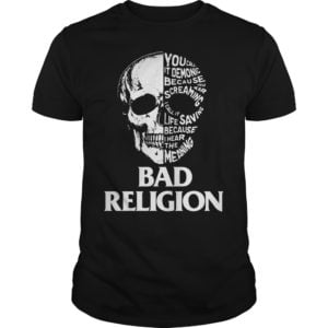 Skull Bad Religion shirt 300x300 - Skull Bad Religion shirt, guys tee, long sleeve, hoodie