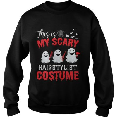 This is my Scary Hairstylist Costume sweater 400x400 - This is my Scary Hairstylist Costume shirt, long sleeve, sweatshirt