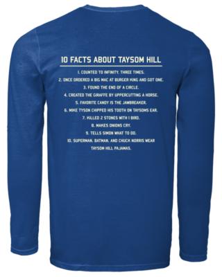 10 fact about taysom hill shirt men s long sleeved t shirt royal back 320x400 - 10 Fact about Taysom Hill shirt, hoodie, long sleeve, sweatshirt