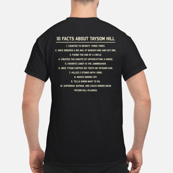 10 fact about taysom hill shirt men s t shirt black back 600x600 - 10 Fact about Taysom Hill shirt, hoodie, long sleeve, sweatshirt
