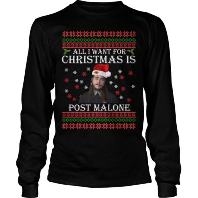 All I want for Christmas is Post Malone long sleeve 400x400 - All I want for Christmas is Post Malone sweater, long sleeve, t-shirt